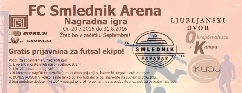 Nagradna igra - Gratis prijavnina za futsal ekipo!